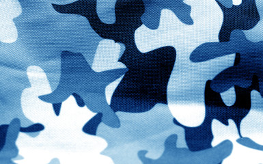 Military uniform pattern in navy blue tone.