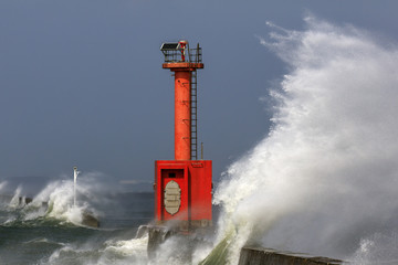 荒れる博多湾