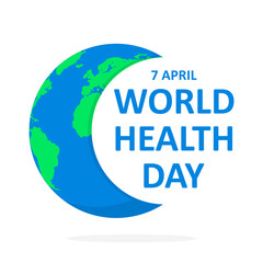 World Health Day poster. Vector illustration.
