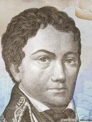 Francisco de Miranda portrait from Venezuelan money