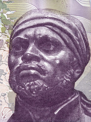 Pedro Camejo portrait from Venezuelan money