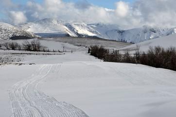 Piste de ski de fond en Auvergne, France