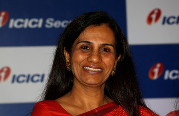 ICICI Bank's CEO Chanda Kochhar poses during a photo-call at a news conference in Mumbai