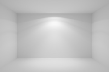 Wall lamp light in empty white room