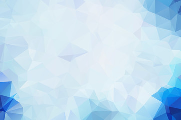 Vector Blue White Polygon Abstract modern Polygonal Geometric Triangle Background.