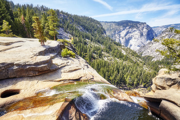 Waterfall in the Yosemite National Park, California, USA.