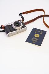 カメラとパスポート