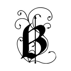 Letter B with arrows