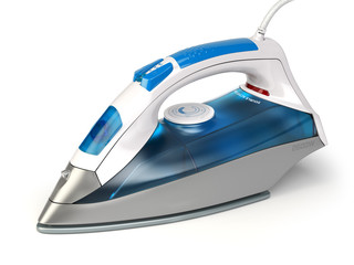 Steam iron isolated on white background.