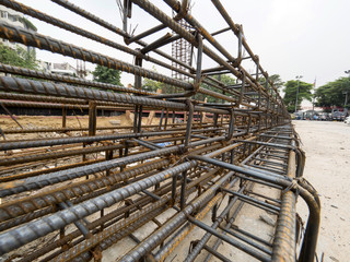 steel frame for construction building in construction area