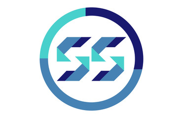 SS Global Blue Ribbon letter Logo