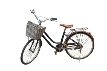 Tuinposter Fiets side view di cut bike on white background,transportation,object,copy space