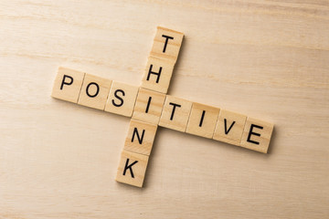 crossword wooden think positive on wood