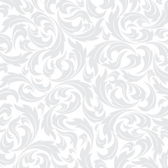Floral seamless wallpapers in the style of baroque, illustration