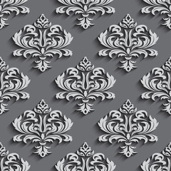 Illustration  seamless wallpapers in the style of Baroque