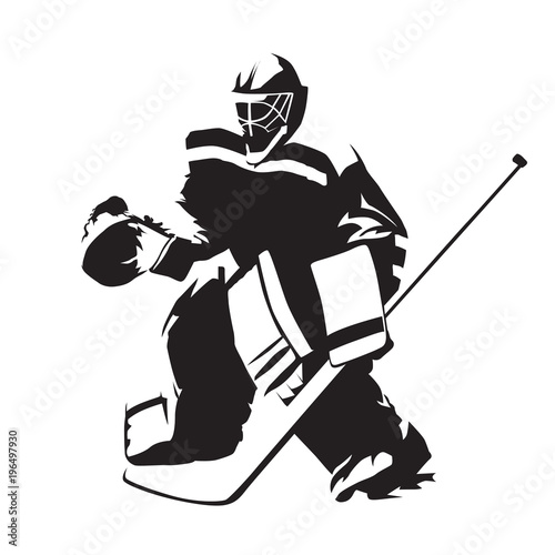 Ice Hockey Goalie Abstract Vector Silhouette Stock Image And