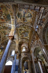 Palermo, Italy, Sicily August 24 2015. The beautiful Church of the Martorana, in the historic center. Byzantine building, it is a testimony of oriental religious and artistic culture in Italy