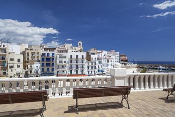 Village and port view of Ametlla de Mar, catalan village of Costa Daurada.Spain.