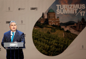 Hungarian Prime Minister VOrban speaks at a tourism conference