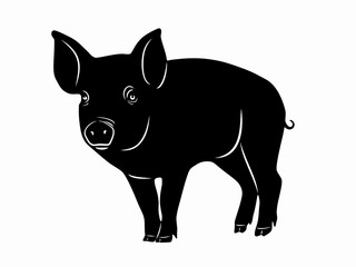 illustration of piggy , vector draw