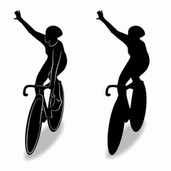 silhouette of cyclist , vector draw