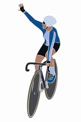 illustration of cyclist , vector draw