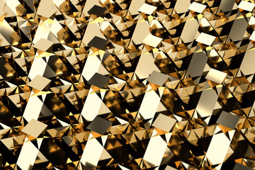 Gold abstract Background Element, 3d illustration.