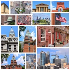 Philadelphia postcard collage
