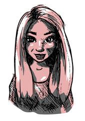 Portret meisje met lange haren