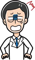 ショックを受ける医者のイラスト