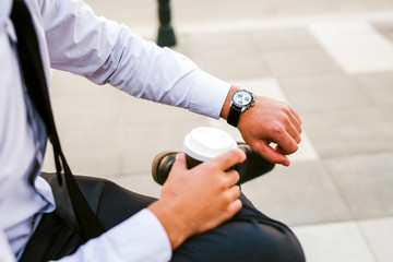 Coffee to go for business people