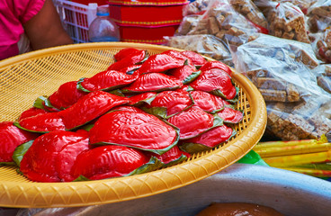 Sticky rise cakes in Yangon, Myanmar