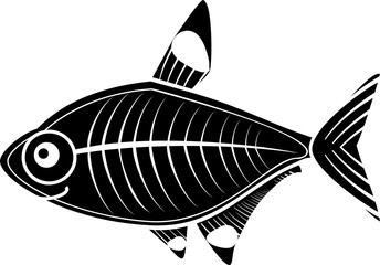 Stylized X-ray fish or Pristella maxillaris