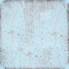 Vintage blue grunge background. The texture of the old surface. Abstract pattern of cracks, scuffs, dust