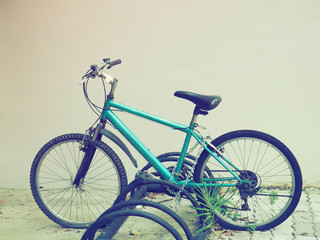 Bicycle with parking retro style