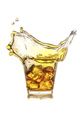 Whiskey Splash in a Glass