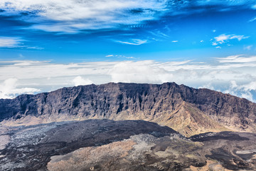 Scenic view of mountains, Fogo, Cape Verde, Africa