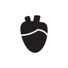 heart organ filled vector icon. Modern simple isolated sign. Pixel perfect vector  illustration for logo, website, mobile app and other designs