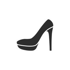 Elegant women high heel shoe. vector Illustration