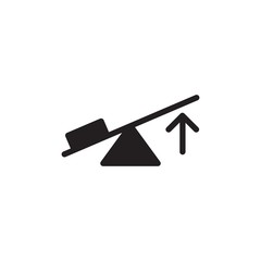 lever, physics filled vector icon. Modern simple isolated sign. Pixel perfect vector  illustration for logo, website, mobile app and other designs
