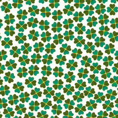 Light Clover Pattern. Floral Background for Fliers Posters Cards. Vector Illustration