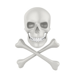 Skull and Crossbones Isolated