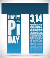 Pi Day Design with Pillar Structure like Pi Symbol, Vector Illustration