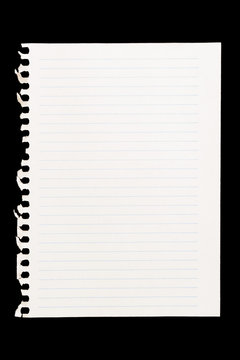 Sheet of notebook to be used as background image in compositions