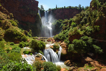 Foto op Canvas Watervallen Ouzoud waterfalls, Morocco