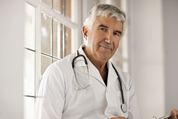 Portrait of a senior male doctor.