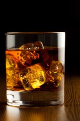 Foto op Aluminium Alcohol Glass of Whiskey and Ice