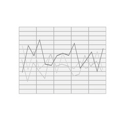 financial chart. Graph chart vector icon. presentation and chart. Business concept
