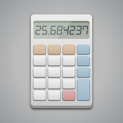 Calculator icon, vector illustration. Business, finance, taxes or science concept