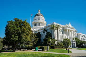 Exterior view of the historical California State Capitol